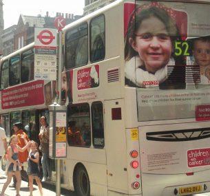 Rose bus in London