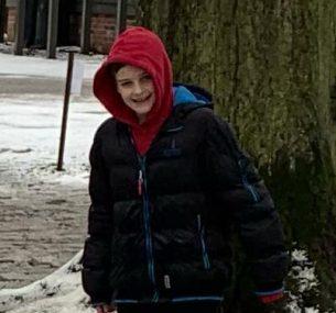 Kodie in the snow Jan 2021..