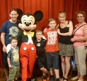 Luke with Mickey Mouse