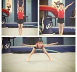 Luke performs various gymnastic manoeuvres.