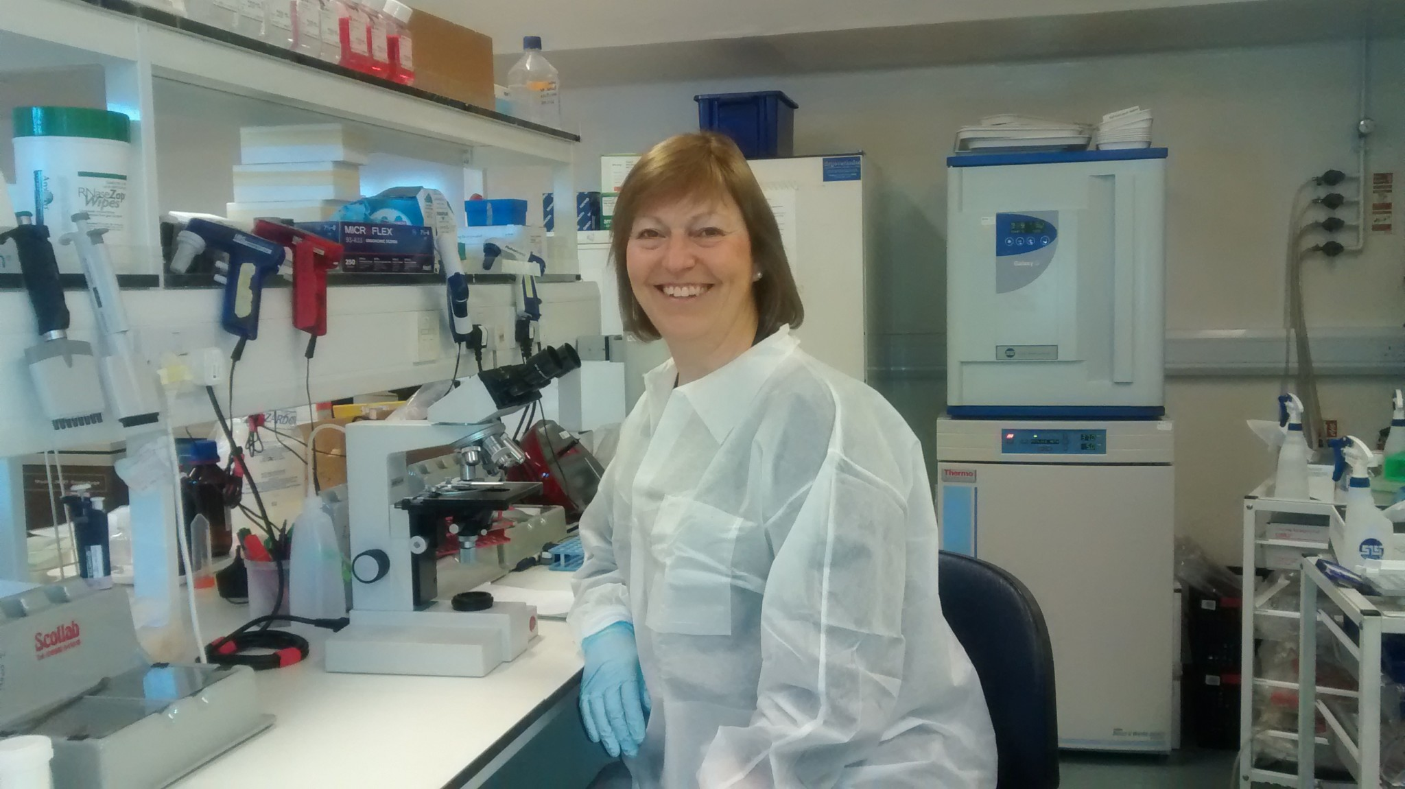 Professor Ruth Jarrett is developing one of many new blood tests for cancer