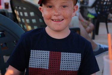 Childhood leukaemia survivor Sam Sharland
