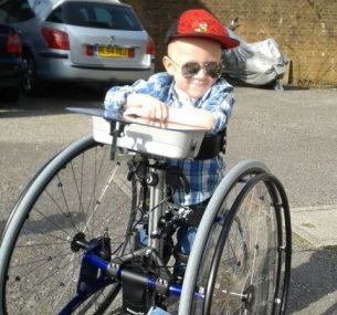 boy with wheelchair