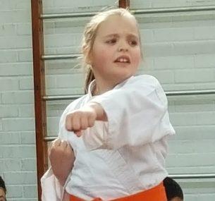 Erin practising martial arts