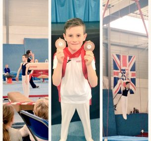 luke the gymnast with medals
