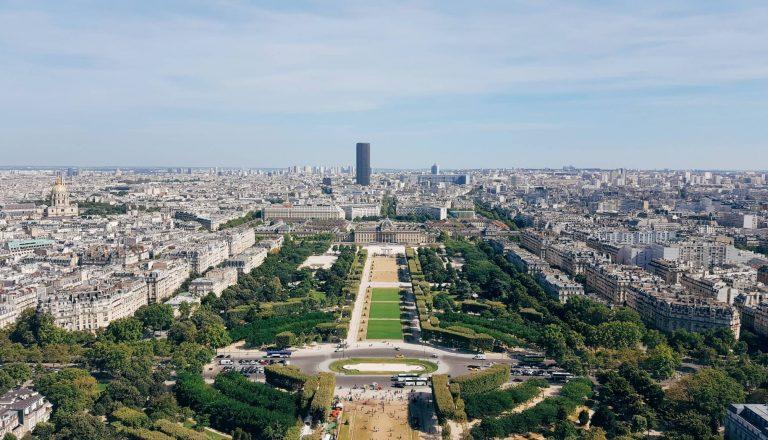 The view across Paris