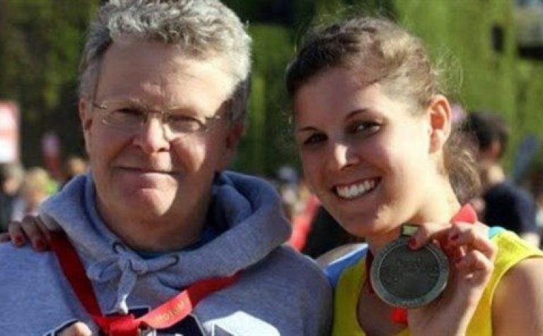 Image of Courtenay, hodgkin lymphoma survivor, and her dad