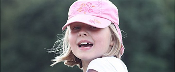 little girl with a hat