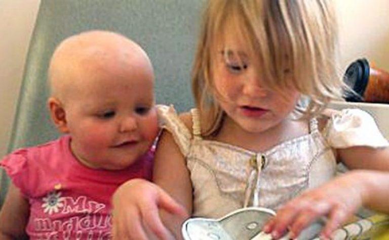 little girl and baby girl