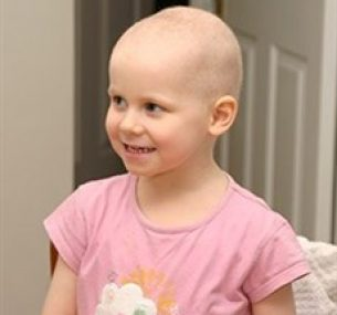 Esme, who was diagnosed with Acute Lymphoblastic Leukaemia