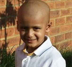 Raj was diagnosed with a brain tumour at just 2 years old