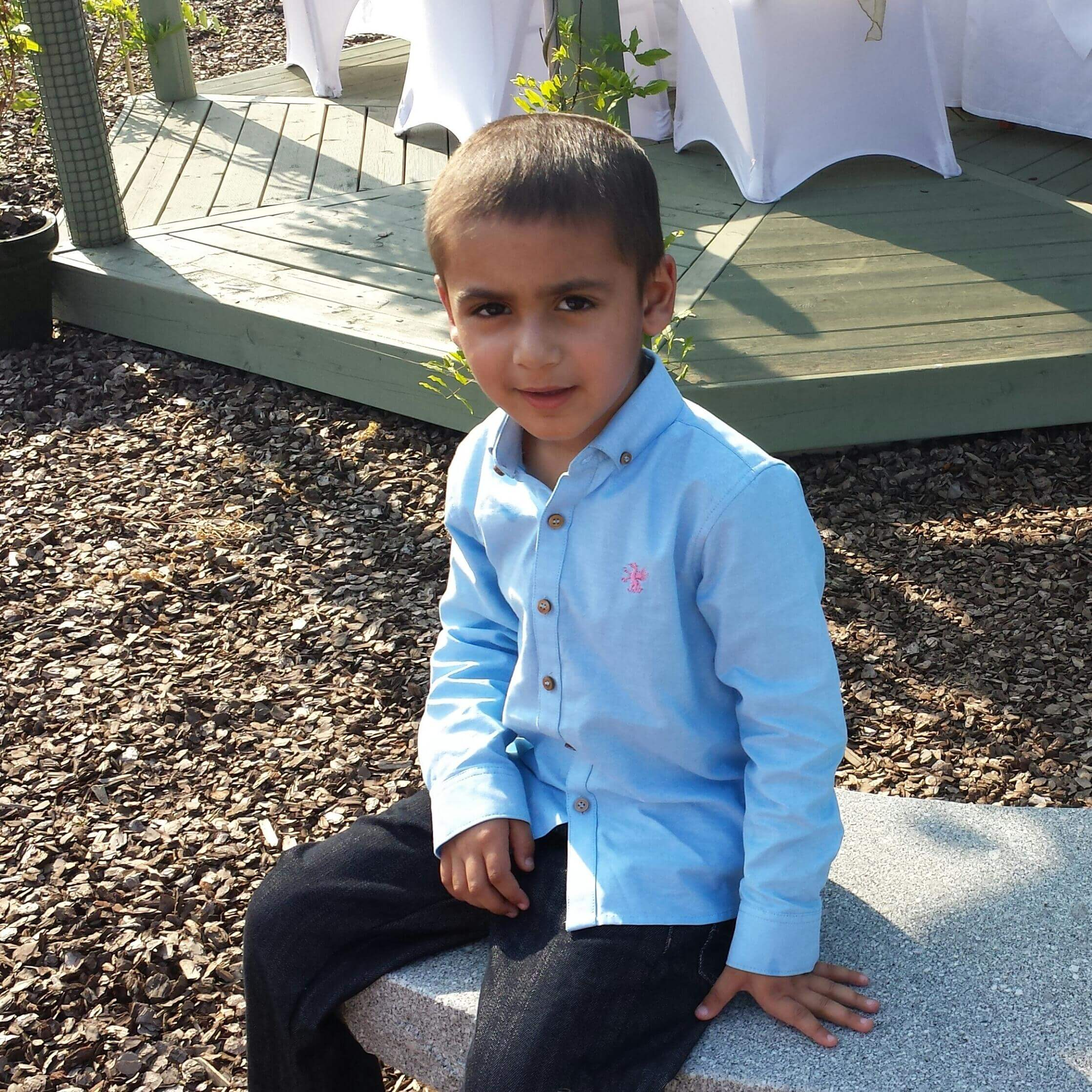 Raj was two and a half years old when he was diagnosed with a brain tumour