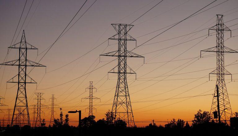 three energy pylons