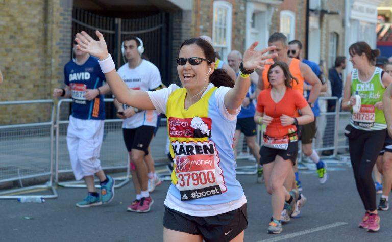 Woman running the marathon