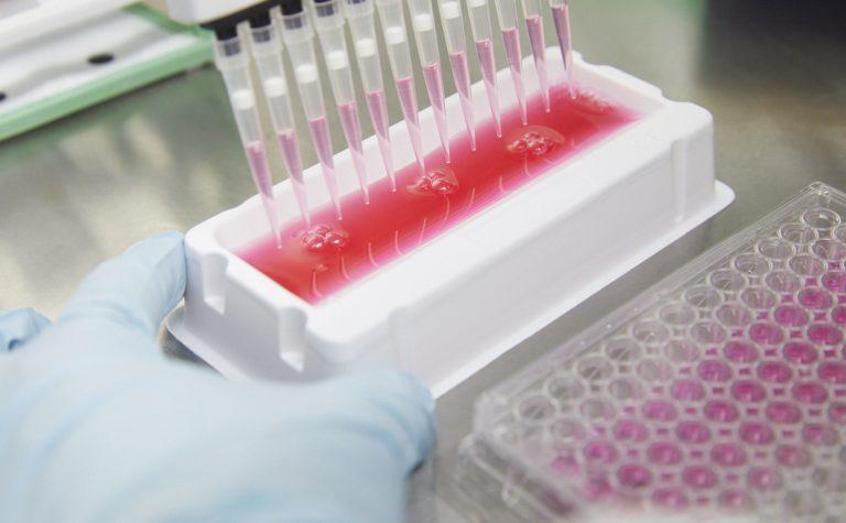 Pink test tubes