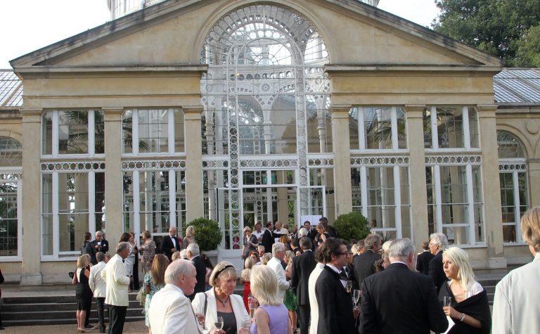 People socializing in Kew Gardens