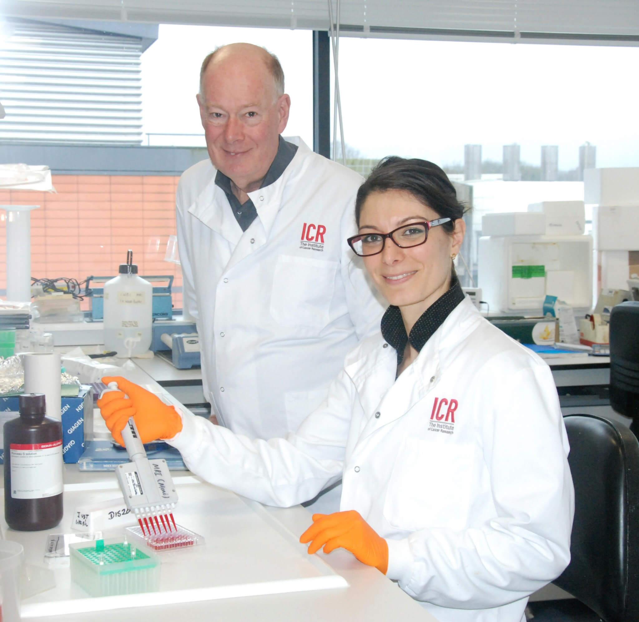 Professor Martin Leach and Alice Agliano