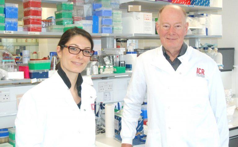 Alice Agliano and Professor Martin Leach
