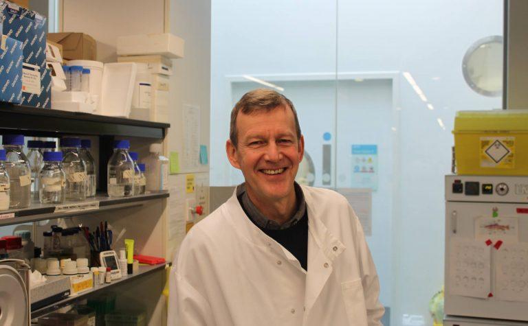 Tom Vulliamy in a laboratory