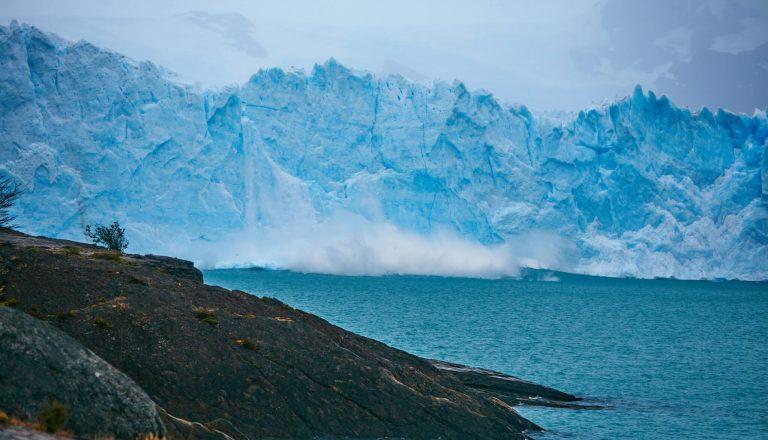 A dramatic polar landscape