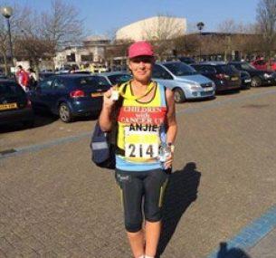 A marathon runner
