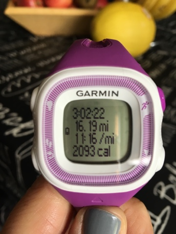 A purple garmin forerunner 10 watch
