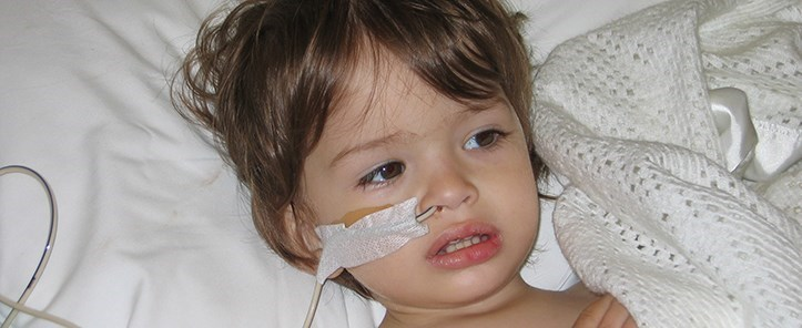 A small child receiving treatment