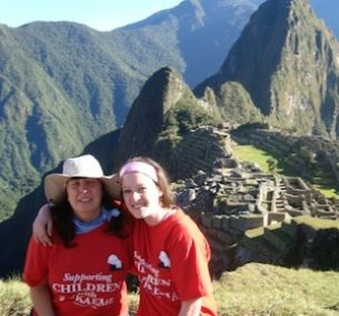 Two women at Machu Picchu