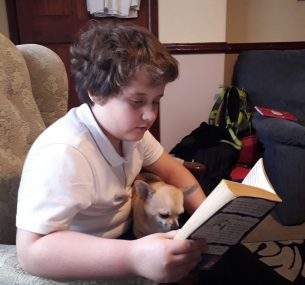 Dominic with Bell the dog Jan 2021