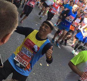 Dinesh London marathon runner2