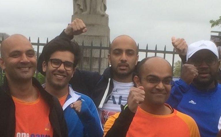 Dinesh london marathon