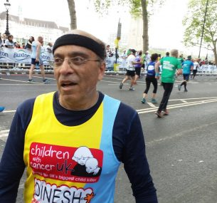 Dinesh London marathon runner