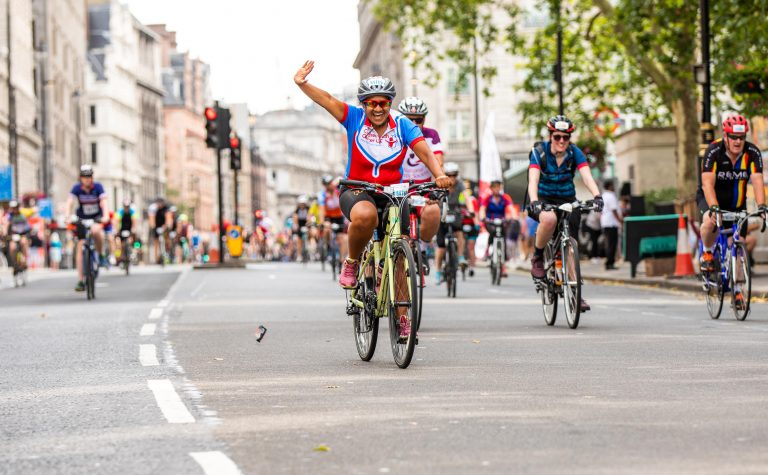Ride London 100 man on a bike