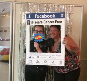 Emma girl holding Facebook frame