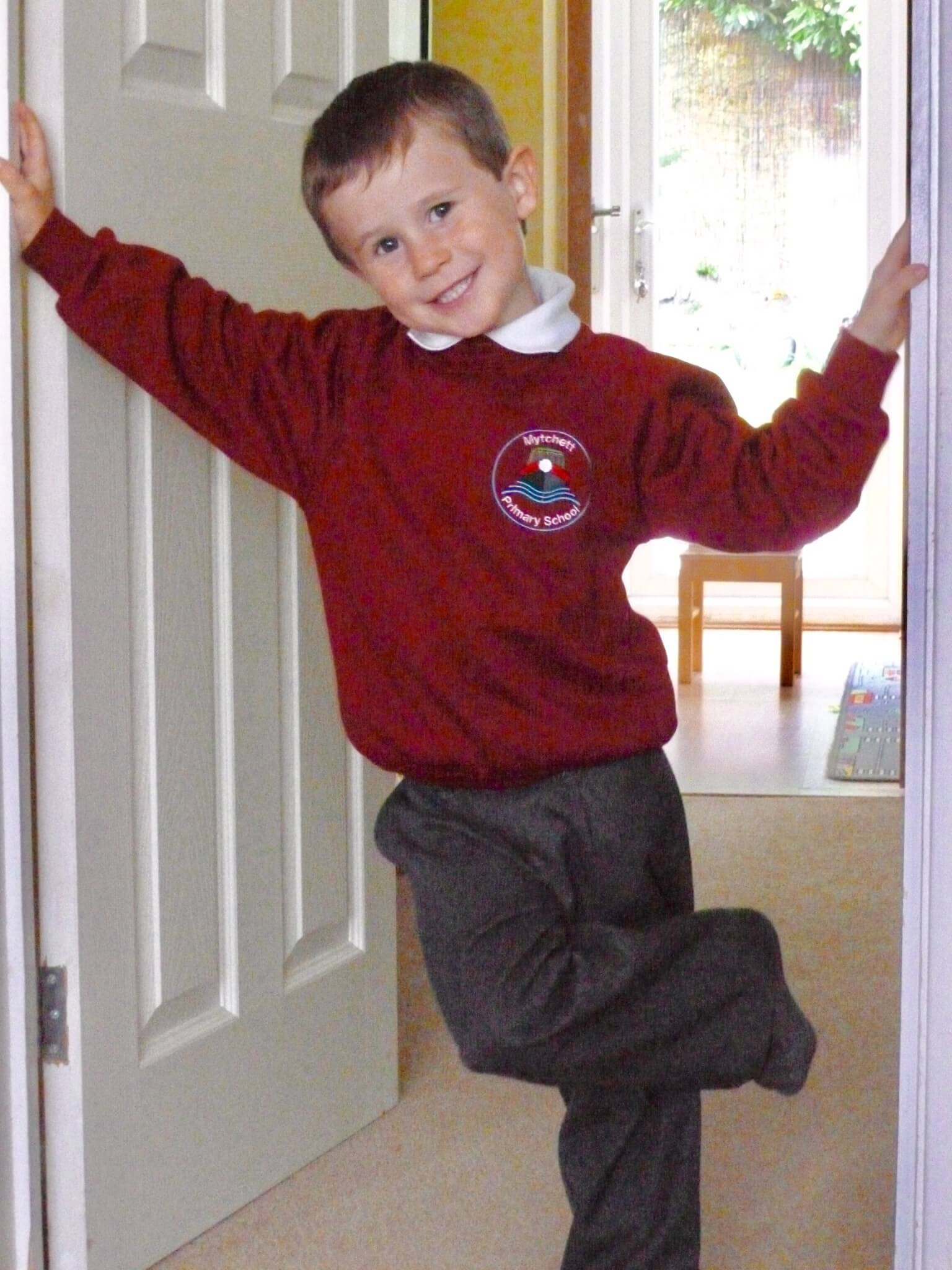 Luke's first day at school