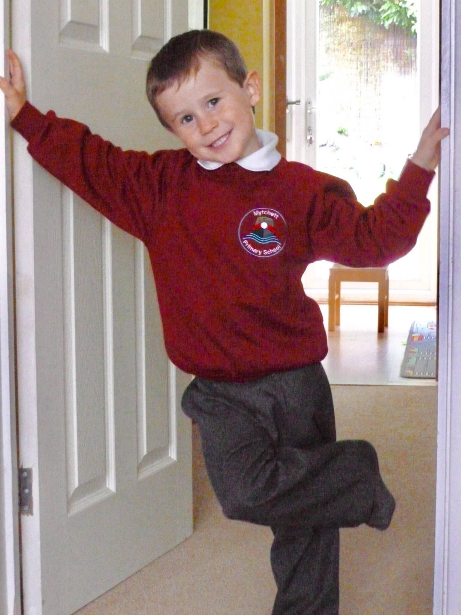 Luke's first day at school