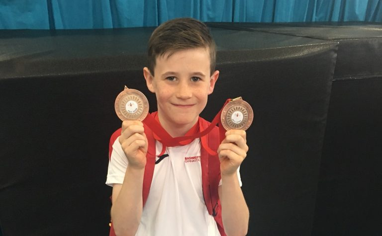 boy with medals