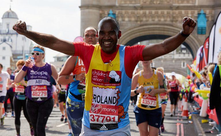 Running over Tower Bridge