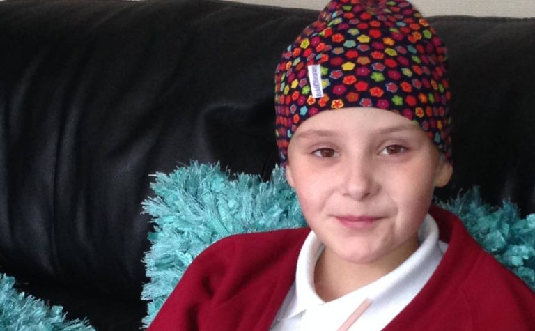 Emma, diagnosed with cancer when when she was eight
