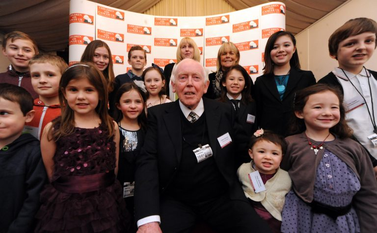 Eddie at the House of Lords with the children