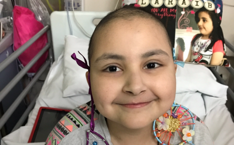 Laraib in hospital