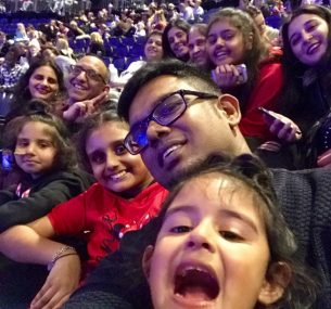 Zunairah with family at Disney on Ice