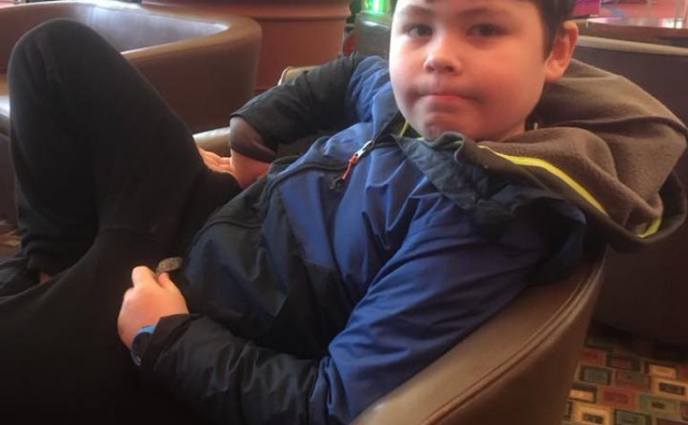 Owen sitting on chair