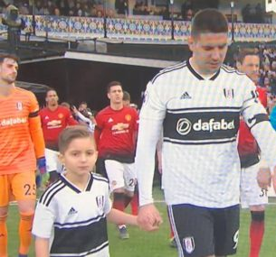 Blue BOY at Fulham vs Man utd