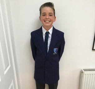 Felix boy in school uniform ccam