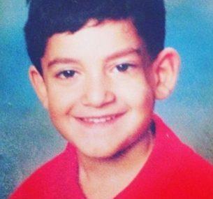Georgie boy in red tshirt