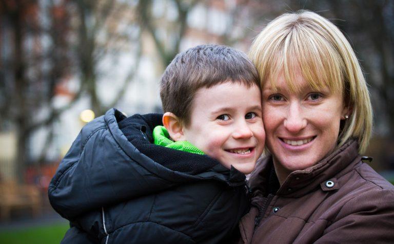 Luke with his mum