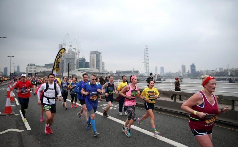 Running across the bridge