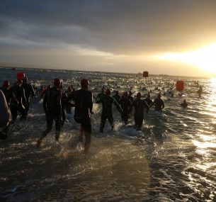 people swimming Ironman