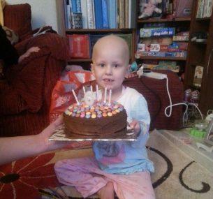 Jessica girl with birthday cake